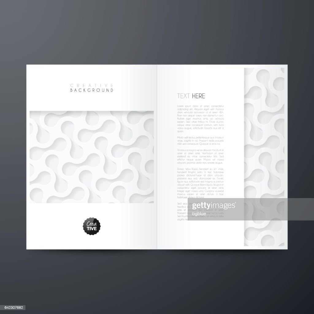 Magazine template layout, brochure, cover design, business annual report, flyer : Vector Art