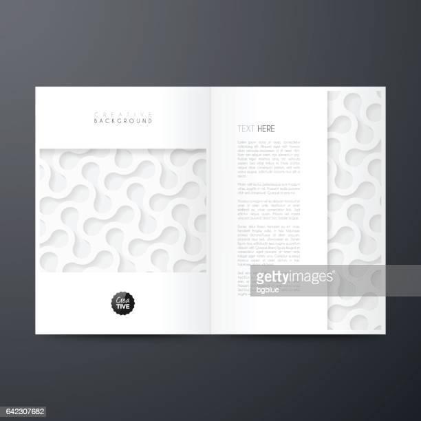 Diseño de plantilla revista, folleto, diseño de la cubierta, informe anual de negocio, flyer
