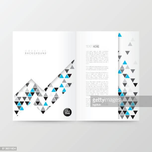 Disposition de modèle magazine, brochure, design de la couverture, rapport annuel d'activités, flyer