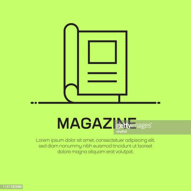 magazine vector line icon - simple thin line icon, premium quality design element - magazine stock illustrations