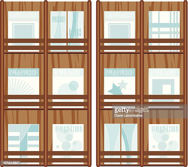 magazine wall rack - rack stock illustrations