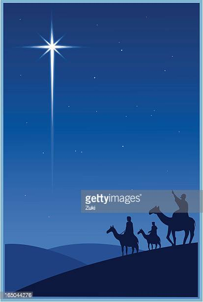 magi and the christmas star - three wise men stock illustrations, clip art, cartoons, & icons