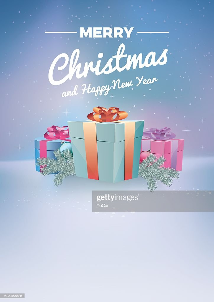Magic background with christmas gifts