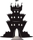 magic castle silhouette