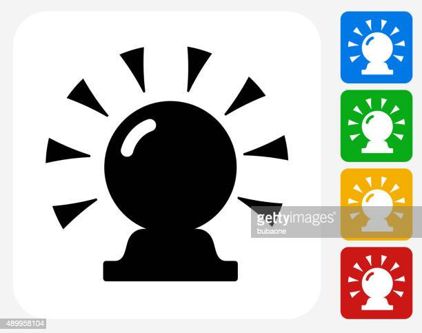 Magic Crystal Ball Icon Flat Graphic Design