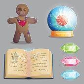 Magic equipment items for game design