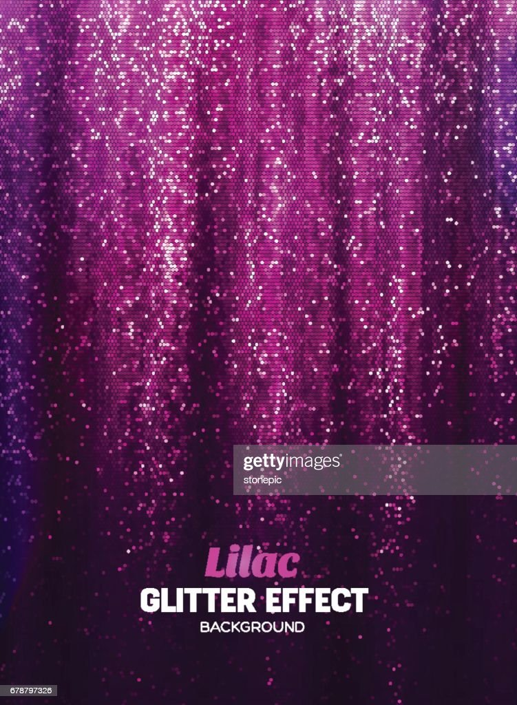 Magic Glitter Background in lilac Color. Poster Backdrop with Shine Elements.