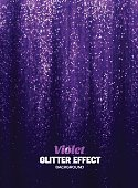 Magic Glitter Background in purple Color. Poster Backdrop with Shine Elements.