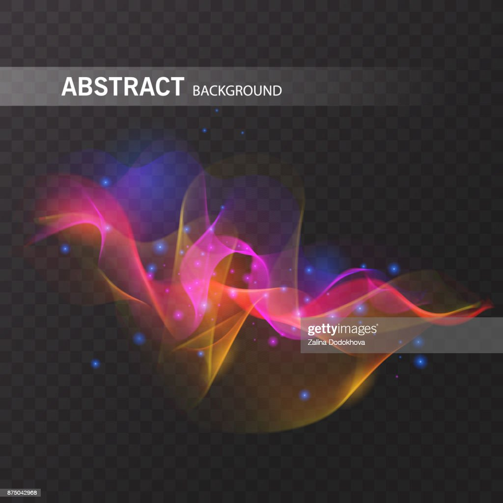 Magic glowing effect on transparent background for your design, colorful abstract effect. Vector eps 10