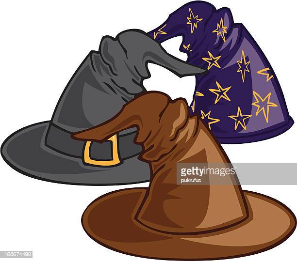 magic hats - wizard stock illustrations, clip art, cartoons, & icons