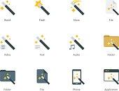 Magic icons on white background
