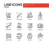 Magic - line design icons set