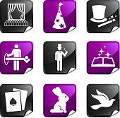 magic nine royalty free vector icon set