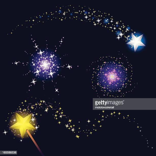 magic of stars - dust stock illustrations