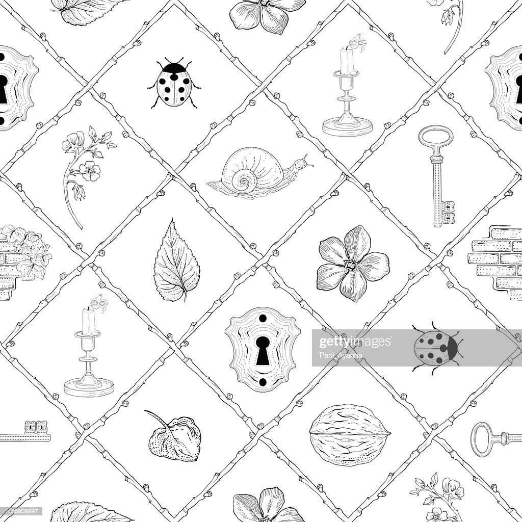 magic place seamless pattern