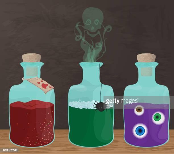 magic potions - potion stock illustrations
