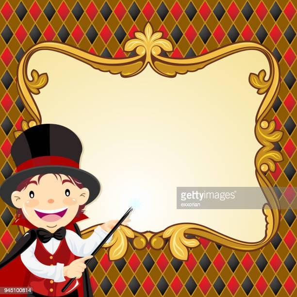 magic show message - magic trick stock illustrations, clip art, cartoons, & icons
