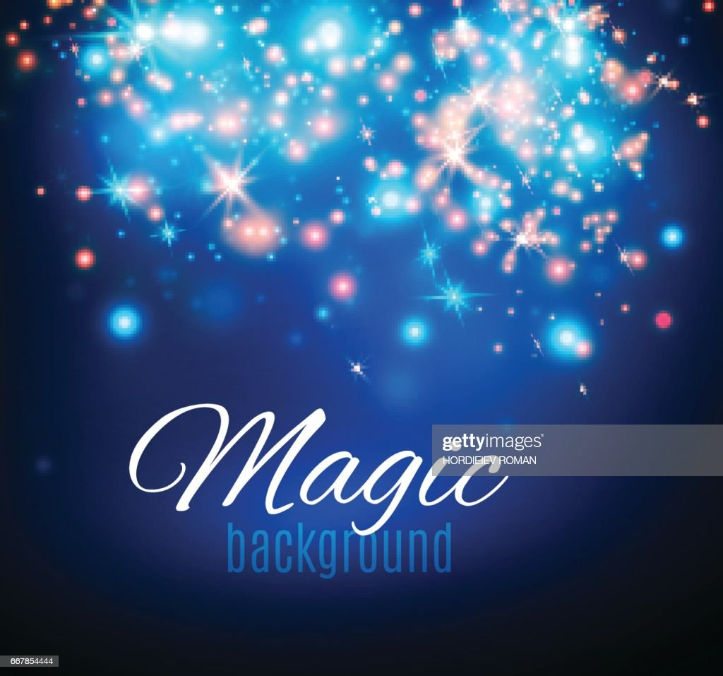 Magic Space. Fairy Dust. Infinity. Abstract Universe Background. Blue Background and Shining Stars