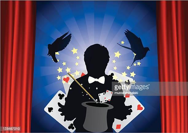 magic trick - magical equipment stock illustrations, clip art, cartoons, & icons