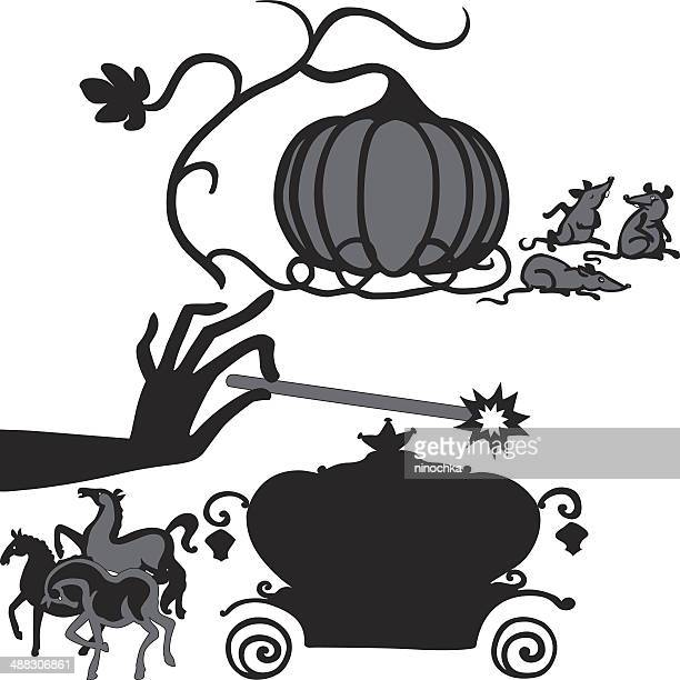 magic trick - horsedrawn stock illustrations, clip art, cartoons, & icons
