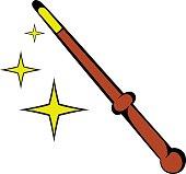 Magic wand icon, icon cartoon