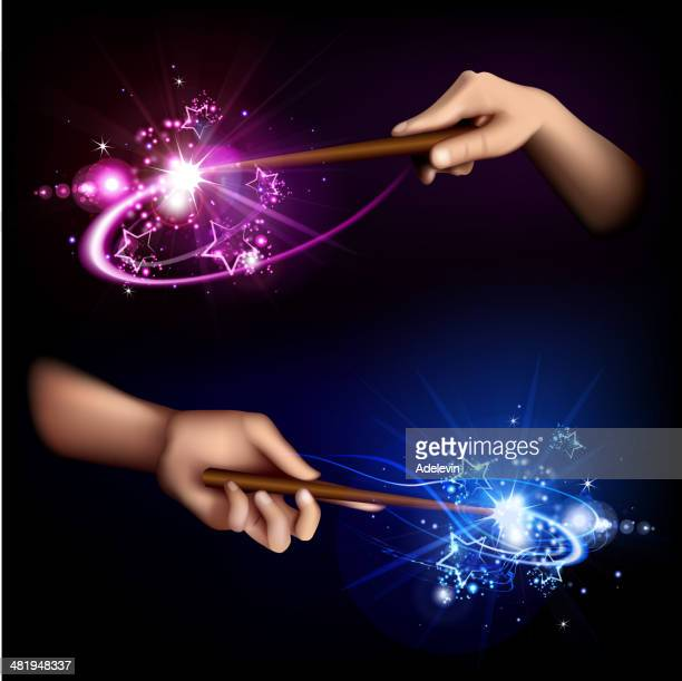 Magic wand in hand