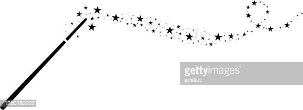 magic wand star trail - paranormal stock illustrations