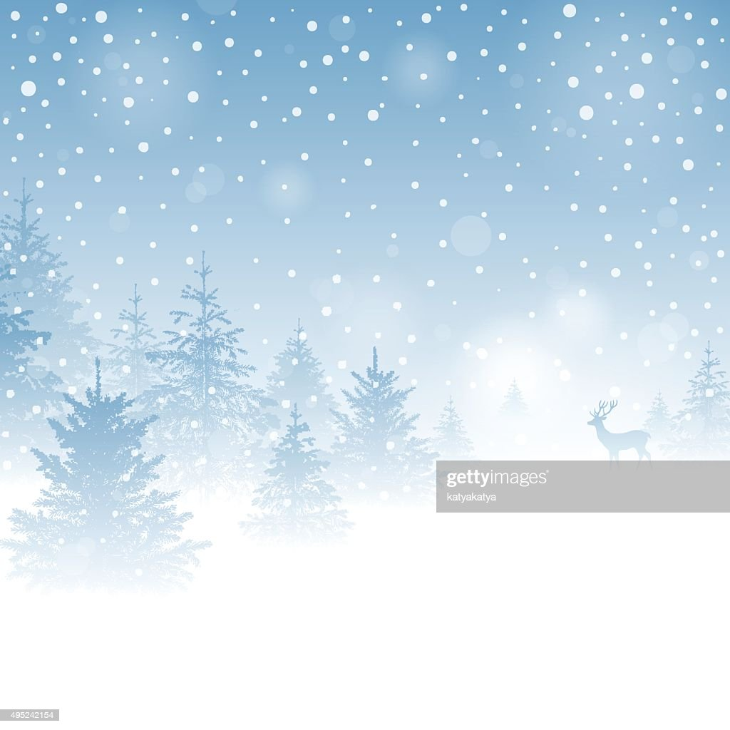 Magic Winter Background