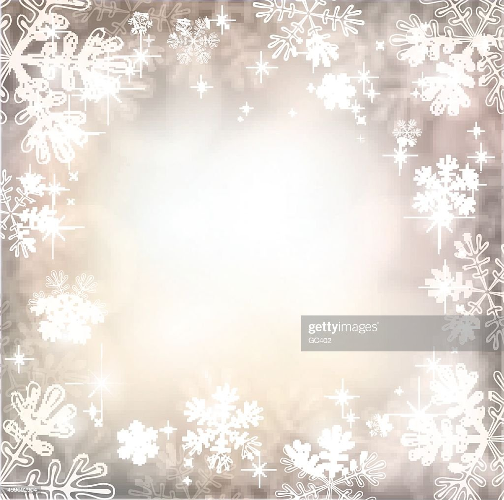 Magic winter background with snowflakes