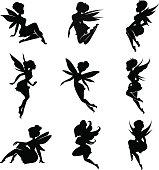 Magical fairies in the cartoon style.