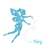Magical fairy with dust glitters