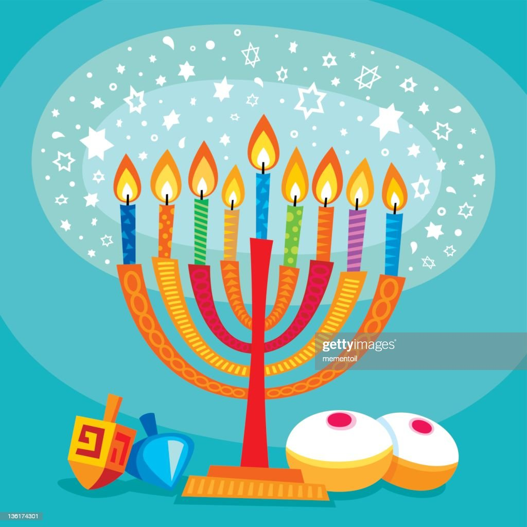 Magical Hanukkah : Stock Illustration