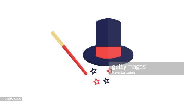 Magician Magic Wand and Hat