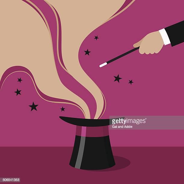 illustrazioni stock, clip art, cartoni animati e icone di tendenza di mago show - bacchetta