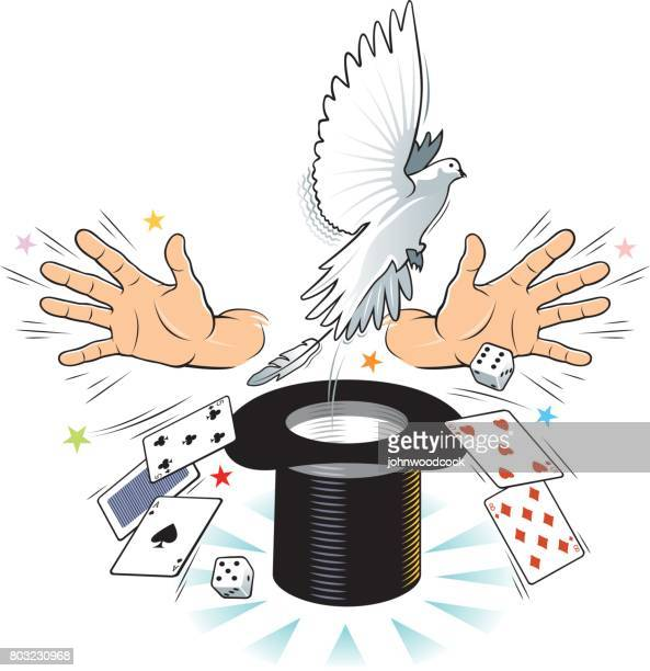 Magician vector illustration