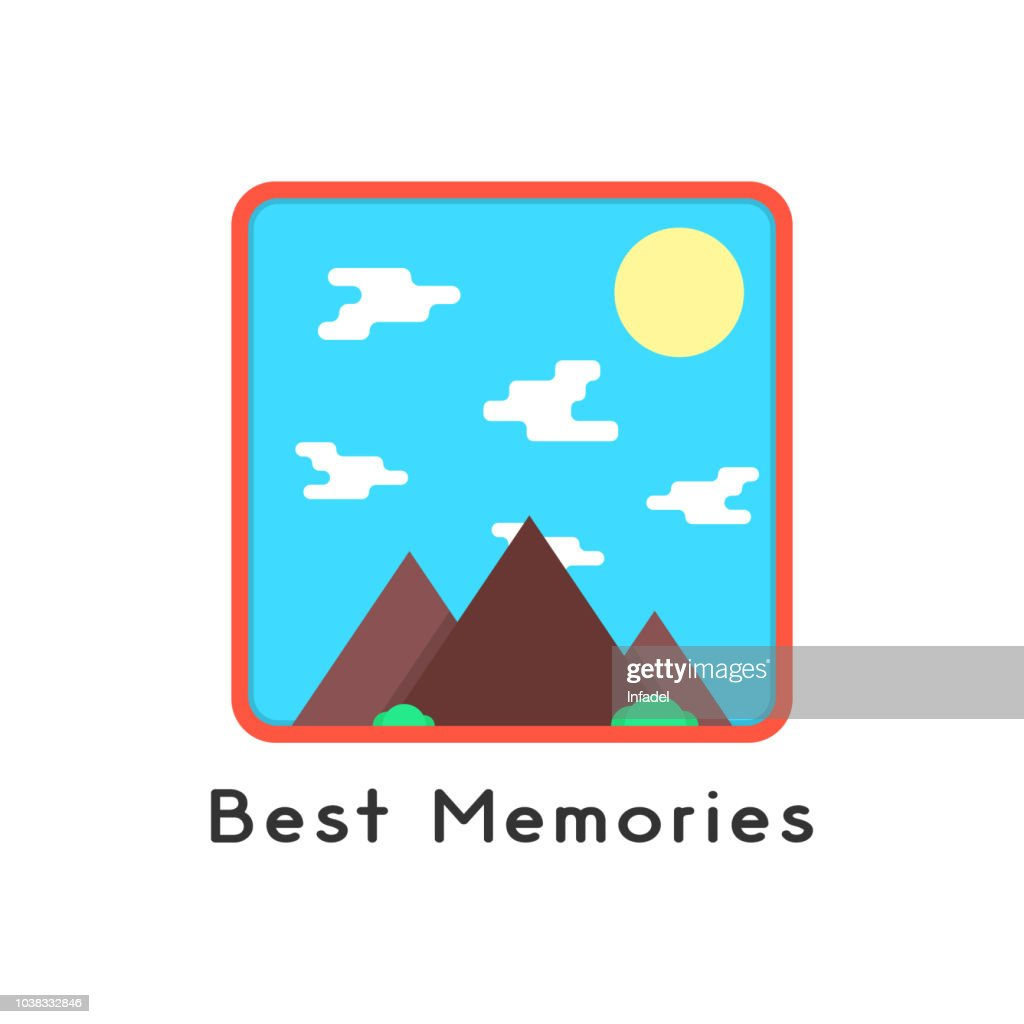 magnet like photoframe with mountains