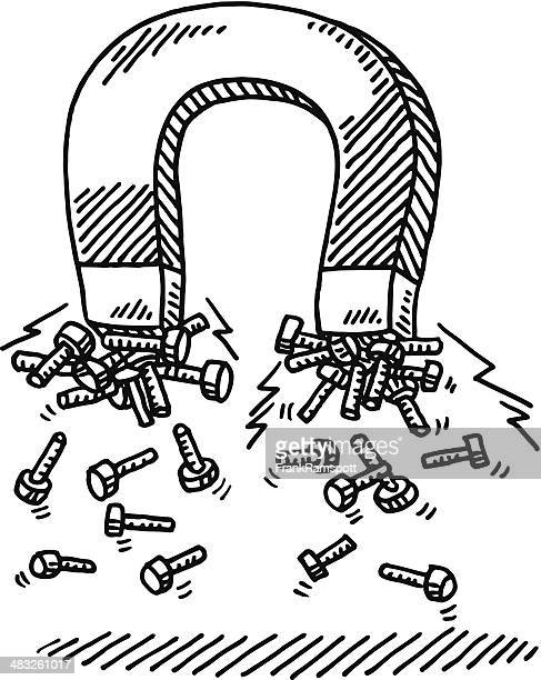 Magnet-Zuglasche aus Metall mit Schrauben Zeichnung