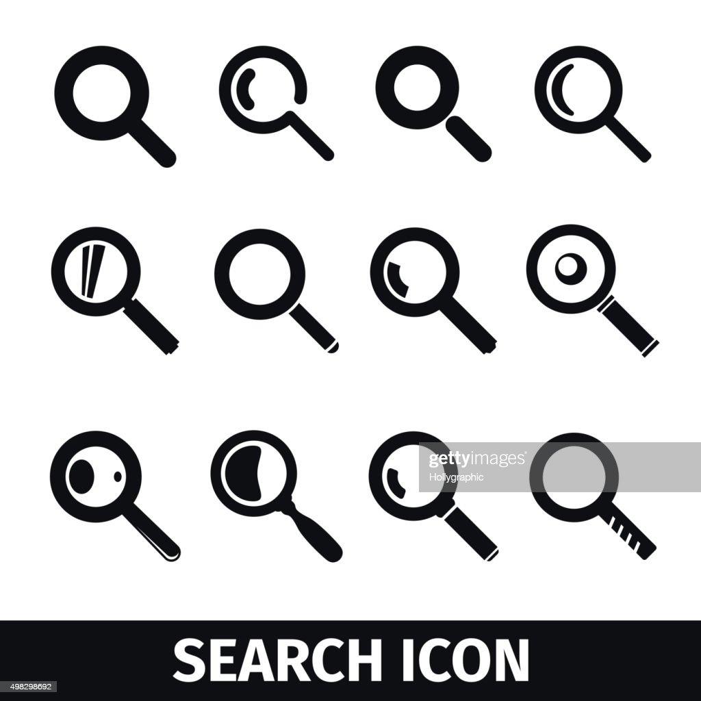 Magnifier Search icon set