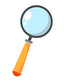 Magnifier search icon-gear sign,magnifier sign-research illustration-zoom. Vector illustration on white background