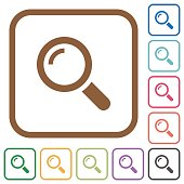 Magnifier simple icons