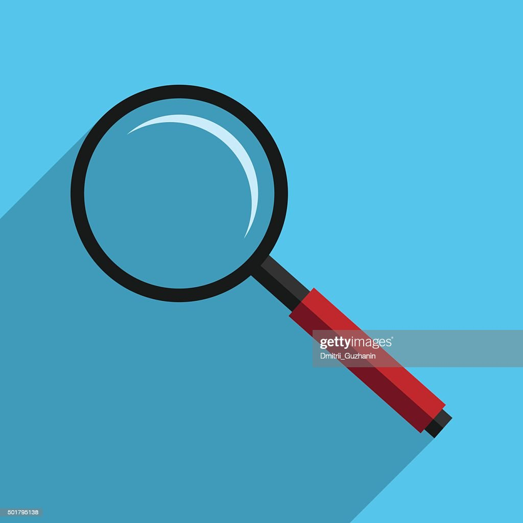 Magnifier with long shadow