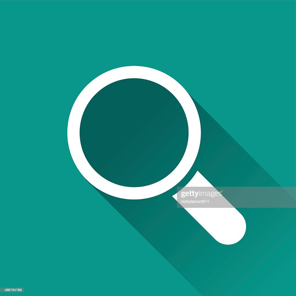magnifying flat design icon