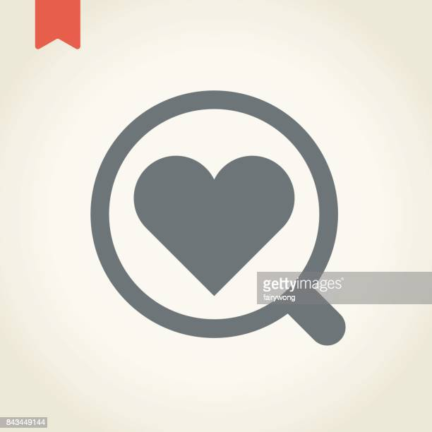 Magnifying Glass and Heart Icon