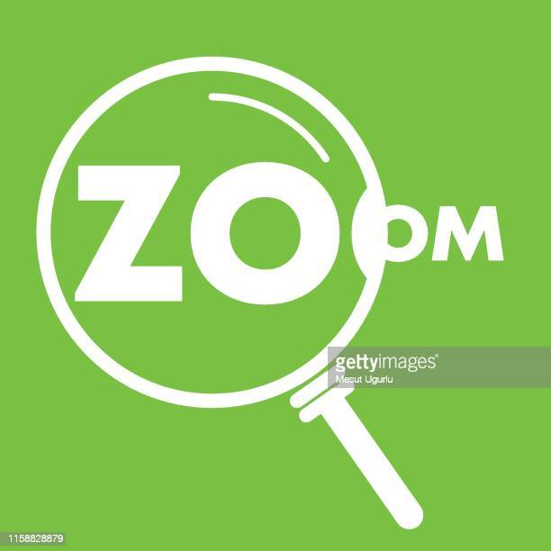 magnifying glass and reading zoom. - zoom in stock illustrations