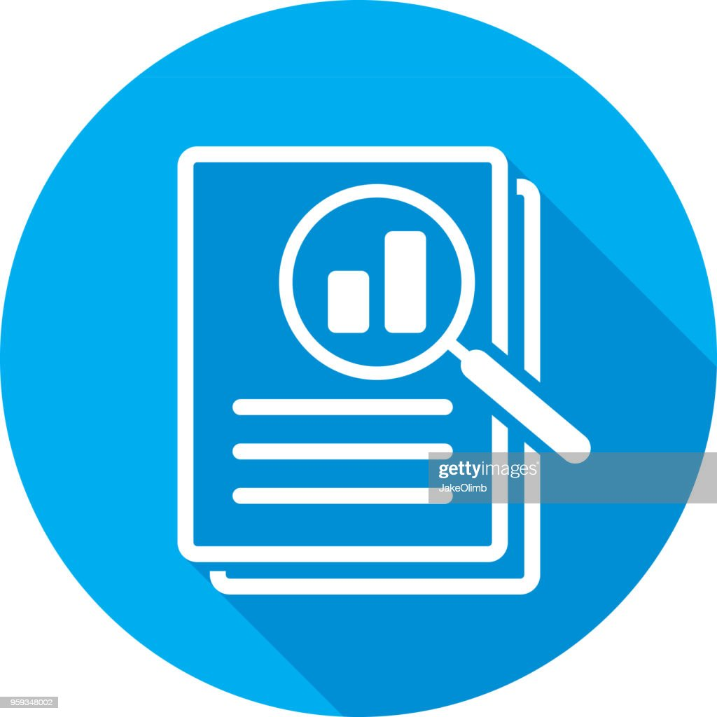 Magnifying Glass Files Icon Silhouette : stock illustration