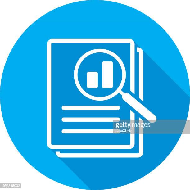 magnifying glass files icon silhouette - searching stock illustrations