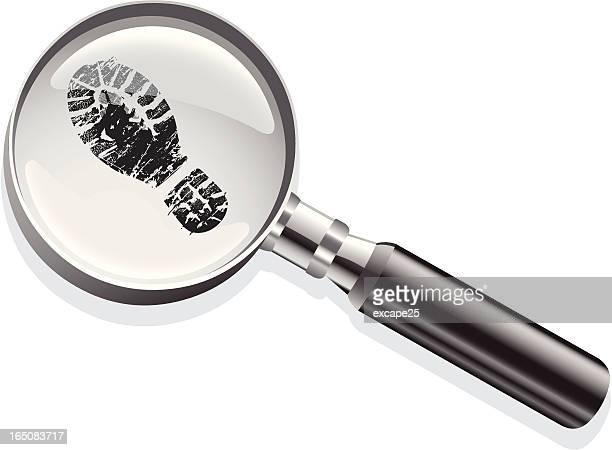 Magnifying glass footprint