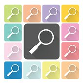 Magnifying glass Icon color set vector illustration