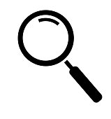 Magnifying glass icon isolated on white background search icon vector illustration
