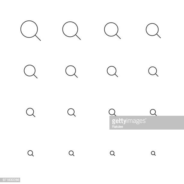 Magnifying Glass Icon - Multi Scale Line Series